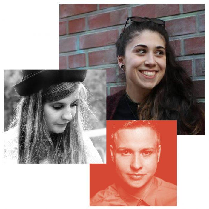 Poetryslammer-Annalouise Falk, Aylin Celik, Florian Wintels